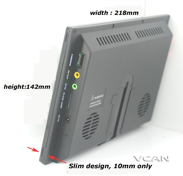 ISDB-T9 9 inch isdb-t full seg digital tv b-cas 2x2 tuner dual antenna with FM transmitter 6 -