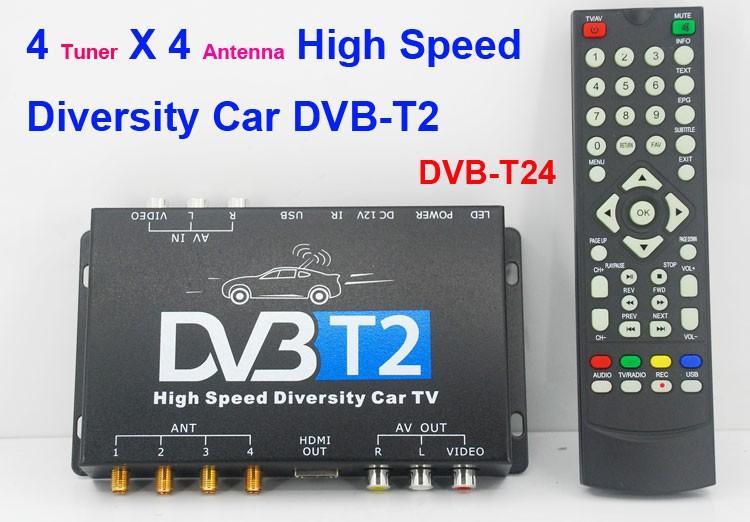 Auto Dvb T2 Tv Receiver 4 Tuner 4 Antenne Usb Hdmi Hdtv