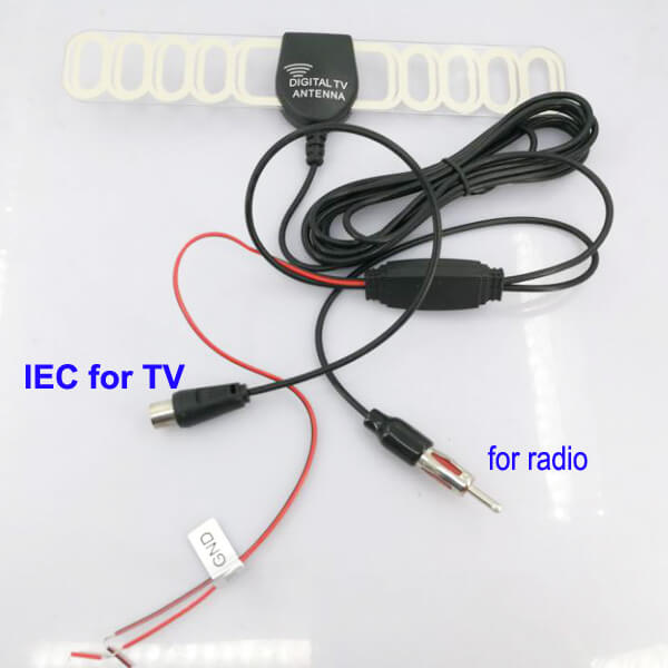 TV Radio Antenna DVB-T FM aerial built-in signal enlarger booster ANT-003FM  25db active amplified