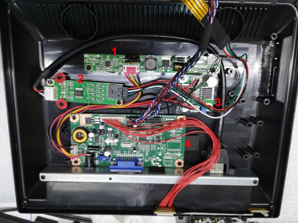 15inch BNC VGA HDMI USB SHARP touch screen monitor VCAN1375 6 -