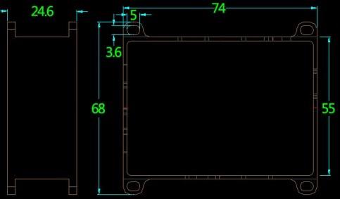 Wireless Video Transmitter size dimension