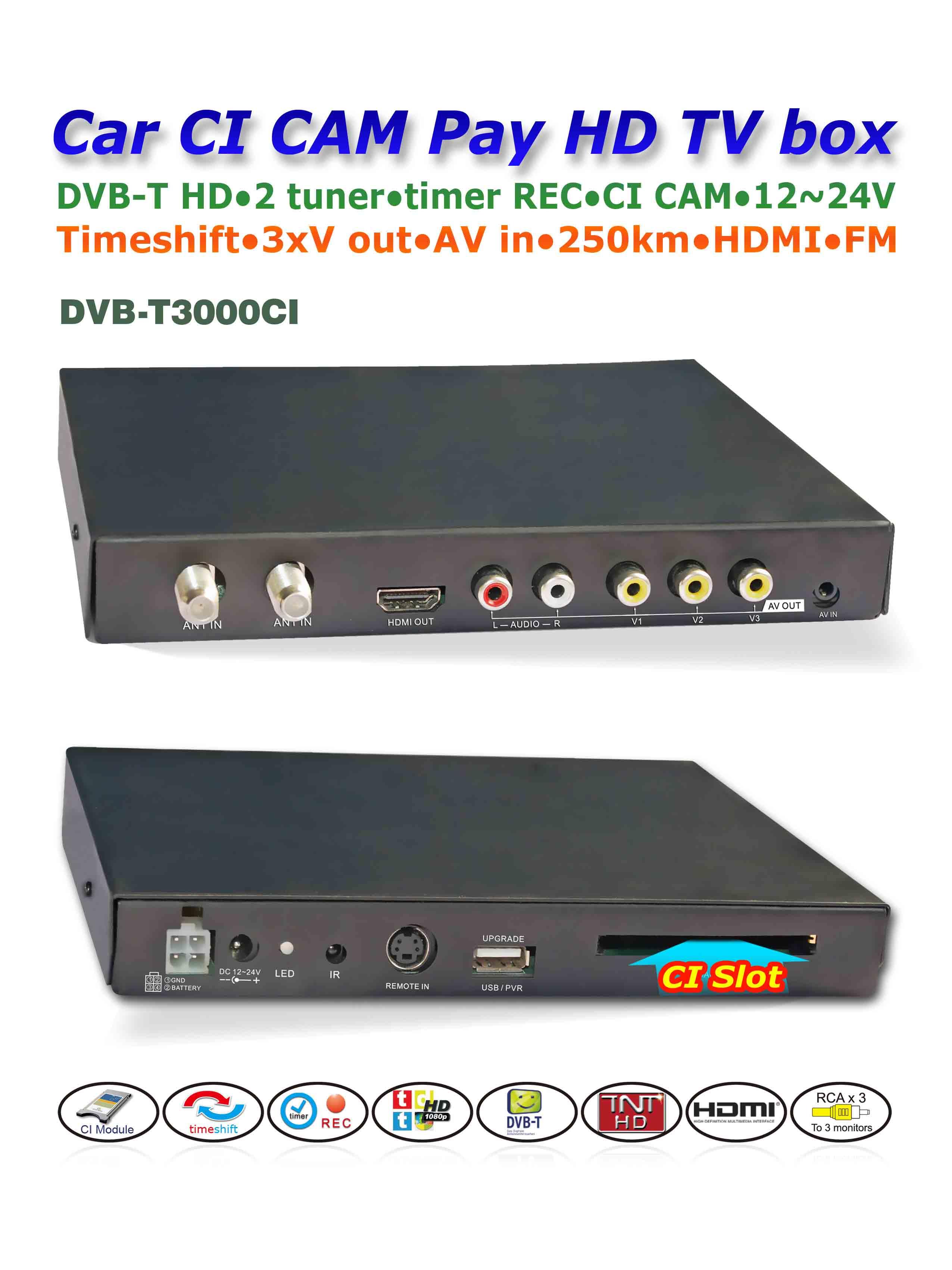 DVB-T3000CI In car MPEG2-4 CAM CI Module DVB-T DTV Europe TNT TDT CA 7